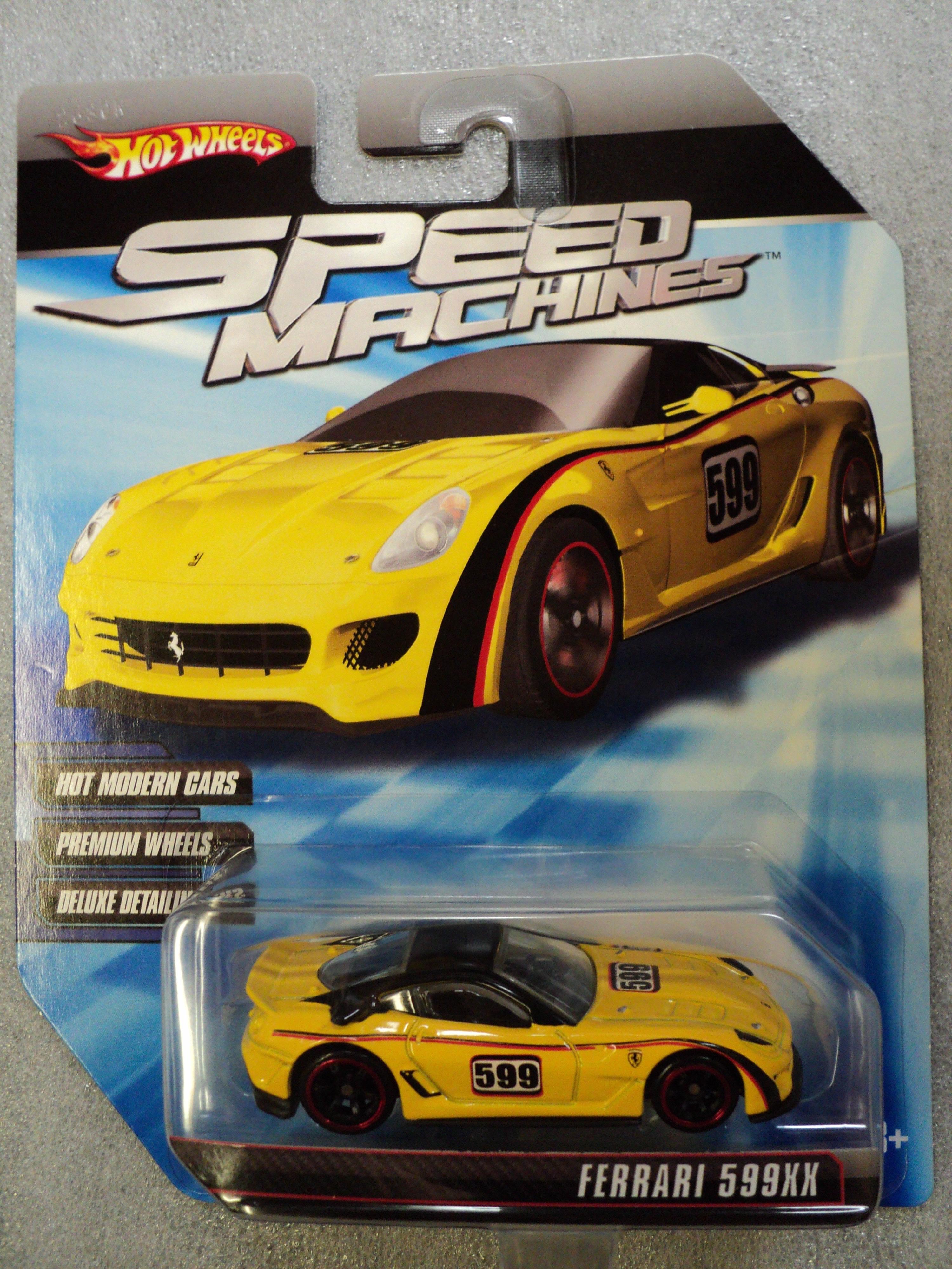Hot wheels 2010 speed machines ferrari 599xx yellow ferrari 59xx 2010 speed machines yellow vanachro Gallery