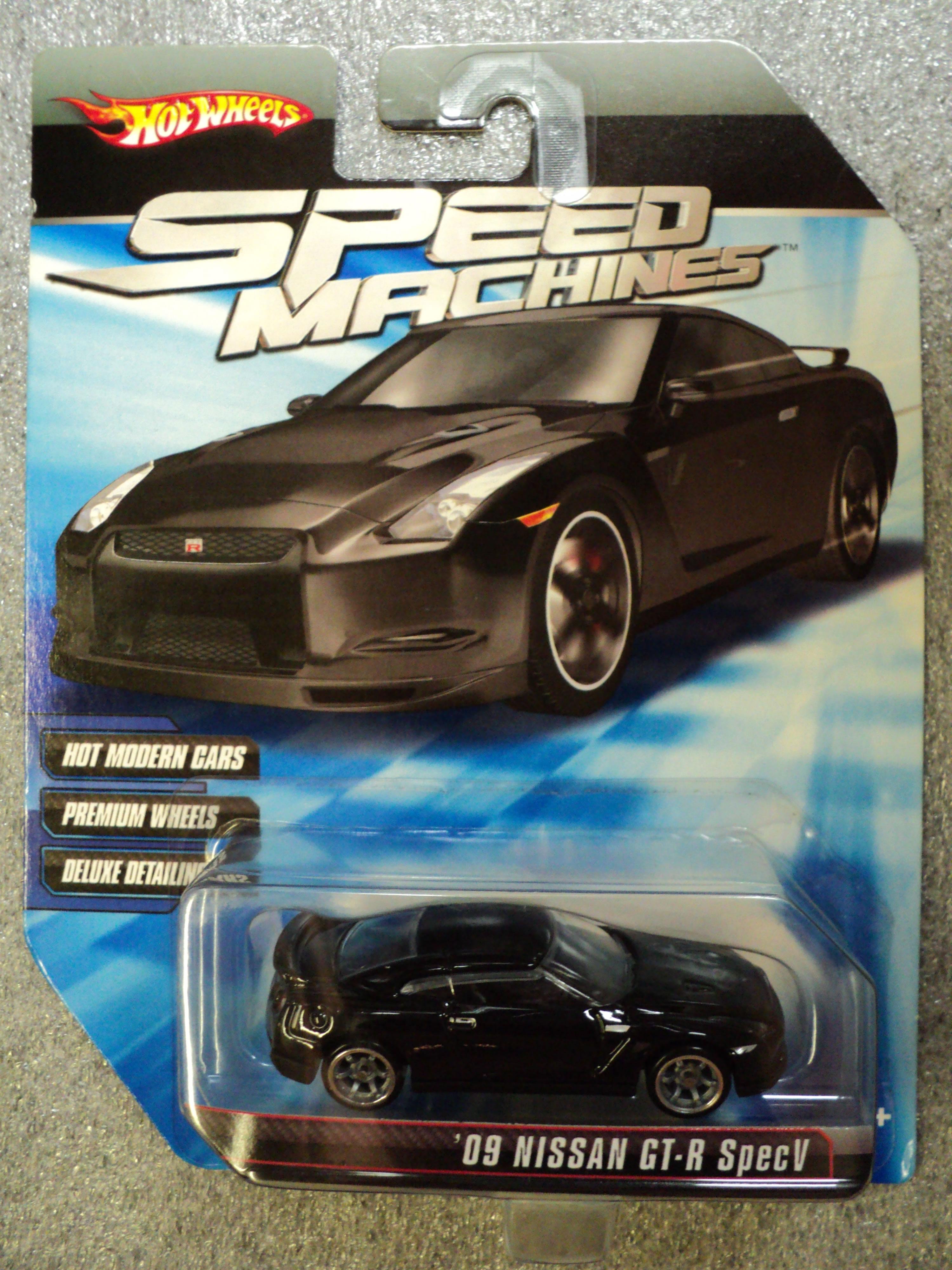 Hot Wheels 2010 2011 Speed Machines 09 Nissan Gt R Specv Black Spec V
