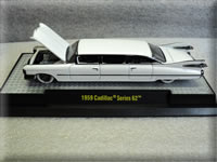 Mini-Motors Exclusive Pearl White Mad Cow 1959 Cadillac Series 62