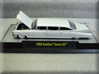 Mini Motors M2 1959 Cadillac Pearl White Chase