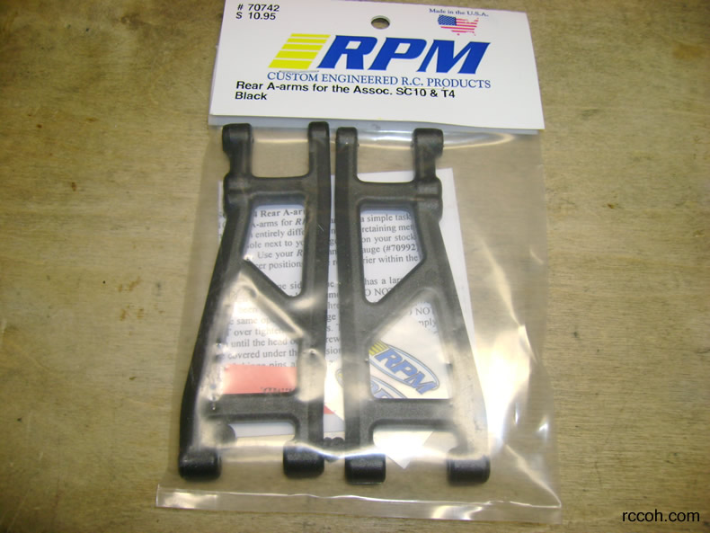 RPM Rear A-Arms Black SC10//T4 70742